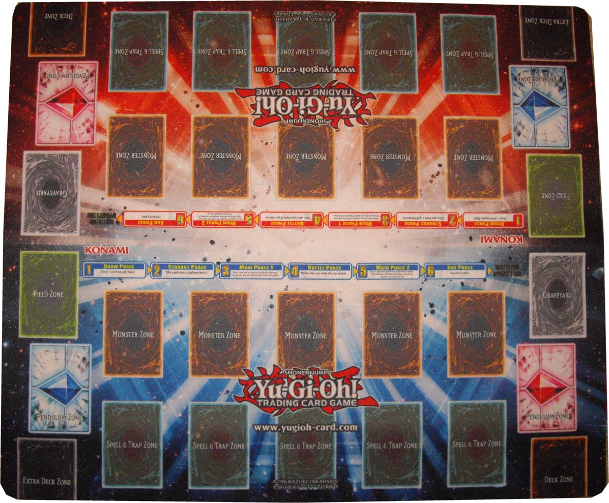 Konami Yu Gi Oh 2 Player Double Play Mat Potomac