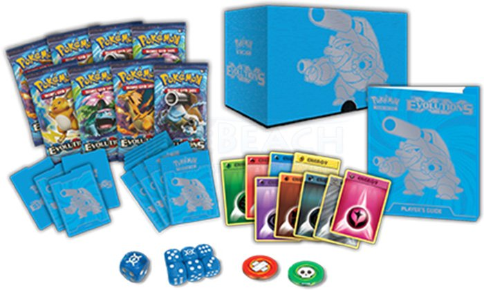 Pokemon XY EVOLUTIONS Elite Trainer Box CHARIZARD /& BLASTOISE Free Shipping