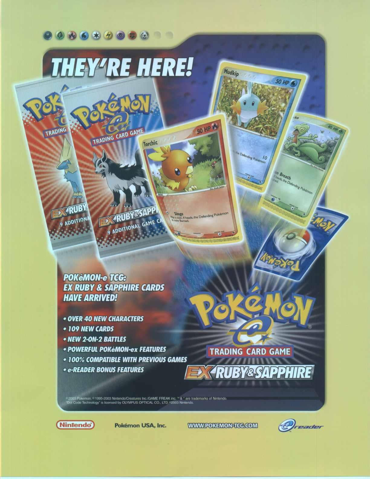 Pokemon: EX Ruby/Sapphire Theme Deck Box   Potomac Distribution