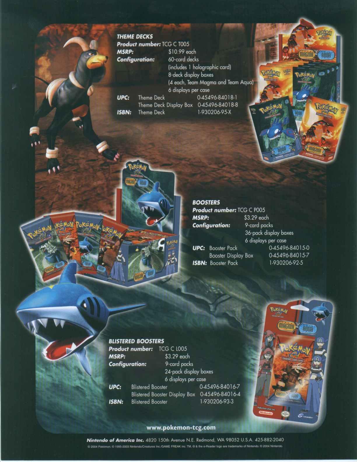 Pokemon: EX Team Magma/Aqua Theme Deck Box   Potomac Distribution