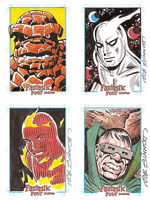Sample sketches by Joe Sinnott