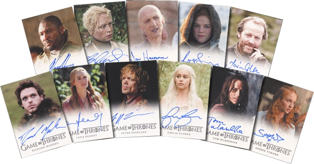 Game of Thrones Season 2 Autograph Cards