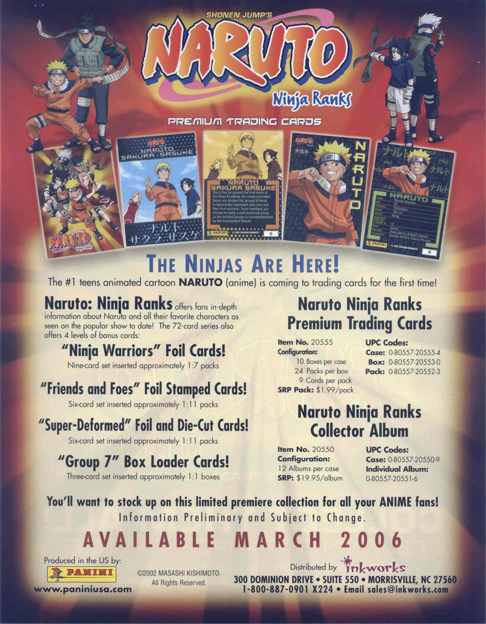 Naruto: Ninja Ranks Box | Potomac Distribution