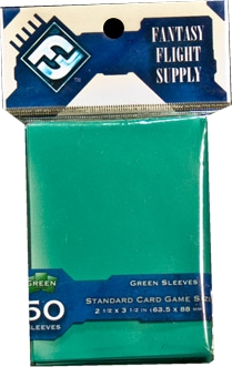 Fantasy Flight Standard Size Card Game Sleeves Box - Green