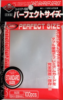 KMC Standard Size Deck Protectors - Perfect Size (Perfect Fit) Sleeves [10 packs]