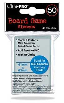 Ultra Pro Mini American Board Game Sleeves Case [41mm x 63mm/5 boxes]