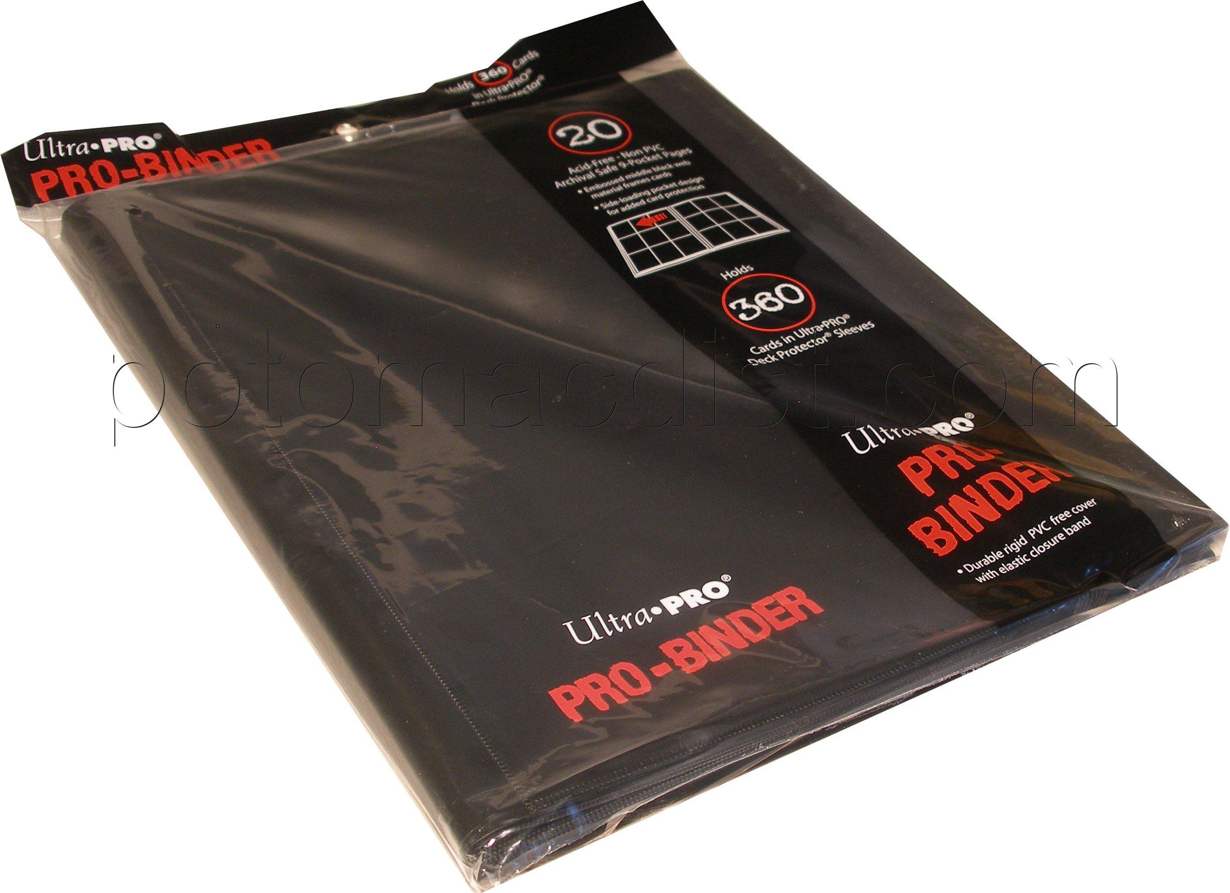 Ultra Pro 9 Pocket Pro Binder Black Case 6 Potomac