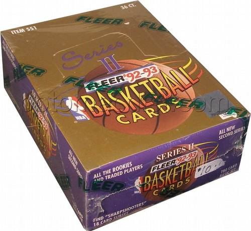 92/93 Fleer Series 2 Basketball Box