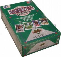 1990 Upper Deck Low # Series Baseball Cards Box