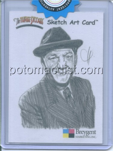 The Three Stooges Trading Cards 2-Case Incentive Shemp Sketch Card by C. Henderson [Breygent/2005]