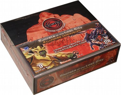 Chaotic CCG: Secrets of the Lost City - Alliances Unraveled Booster Box [1st Edition]