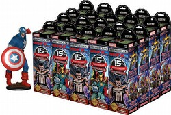 HeroClix: Marvel 15th Anniversary What If? Booster Case [20 boosters + Case Incentive Figure]