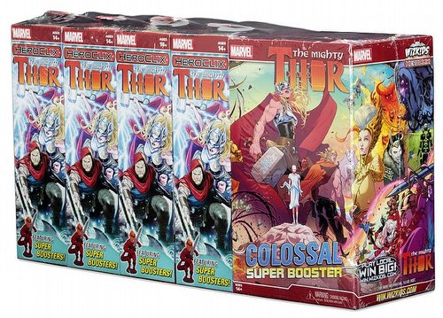HeroClix: Marvel The Mighty Thor Booster Brick [8 regular boosters/1 super booster]