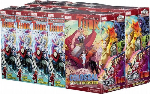 HeroClix: Marvel The Mighty Thor Booster Case [16 regular boosters/2 super boosters]