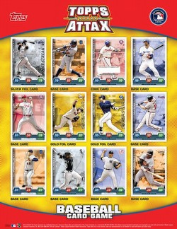 10 2010 Topps Attax Baseball Head-To-Head Card Game Booster Box Case [8 boxes]