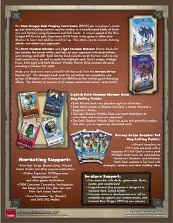 Blue Dragon Role Playing Card Game: Shadow Wielder Starter Deck Box