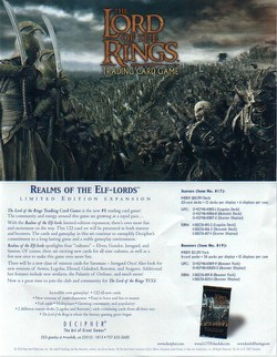 Lord of the Rings TCG: Realms of the Elf-Lords Starter Deck Box