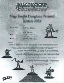 Mage Knight: Dungeons Pyramid [4 Starters]