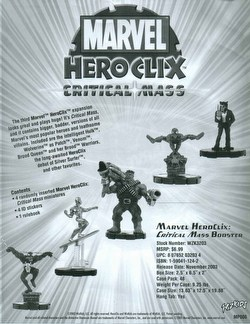 HeroClix: Marvel Critical Mass Case [48 boosters]