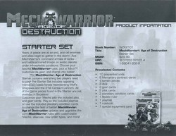 MechWarrior Collectible Miniatures Game [CMG]: Age of Destruction [4 starters]