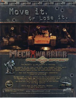 MechWarrior Collectible Miniatures Game [CMG]: Fire for Effect Booster Case [48 boosters]