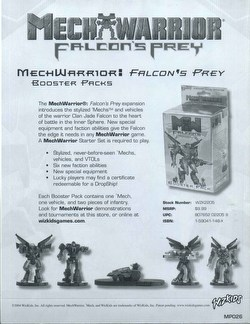 MechWarrior Collectible Miniatures Game [CMG]: Falcon's Prey Booster Case [48 boosters]