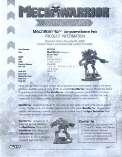 MechWarrior Collectible Miniatures Game [CMG]: Vanguard [12 boosters]