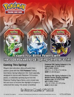 Pokemon TCG: Platinum Spring 2009 Collector's Tin Case [9 tins]