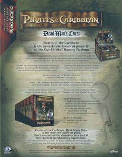 Pirates of the Caribbean Trading Card Game [TCG]: Dead Man's Chest Booster Case [12 boxes]