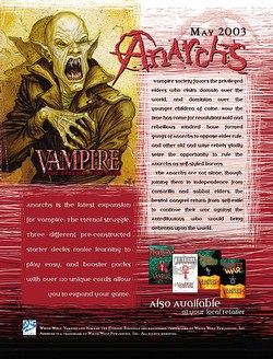 Vampire: The Eternal Struggle CCG Anarchs Booster Box