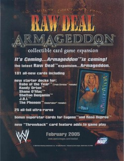 Raw Deal CCG: Armageddon Booster Box