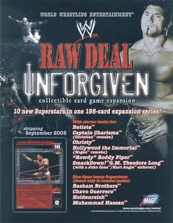 Raw Deal CCG: Unforgiven Booster Box Case [6 boxes]