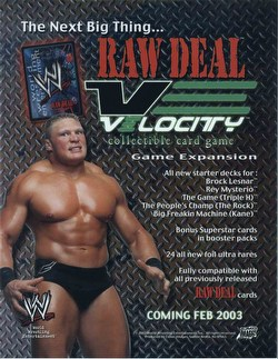 Raw Deal CCG: Velocity Booster Box Case [6 boxes]