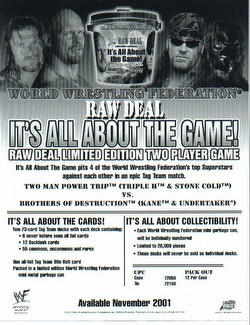 Raw Deal CCG: It's All About the Game Tin