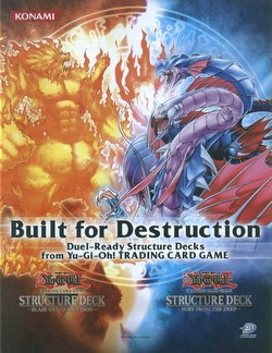 Yu-Gi-Oh: Blaze of Destruction & Fury From the Deep Structure Starter Deck Box [Unlimited]