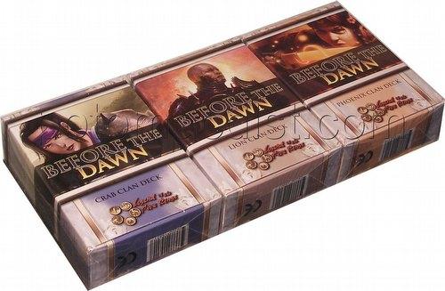 Legend of the Five Rings [L5R] CCG: Before the Dawn Starter Deck Set [Crab, Lion, Phoenix decks)