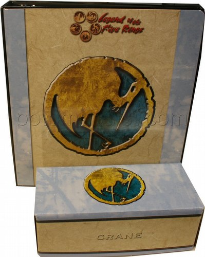 Legend of the Five Rings [L5R] CCG: Three-Ring Binder and Card Storage Box [Crane Clan]