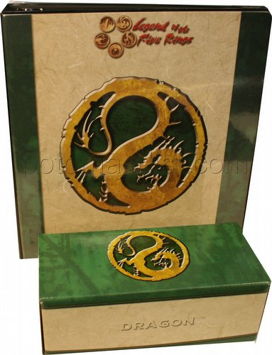 Legend of the Five Rings [L5R] CCG: Three-Ring Binder and Card Storage Box [Dragon Clan]