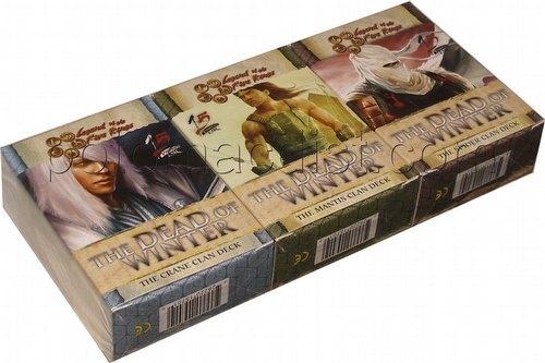 Legend of the Five Rings [L5R] CCG: Dead of Winter Starter Deck Set [Crane, Mantis, Spider decks)