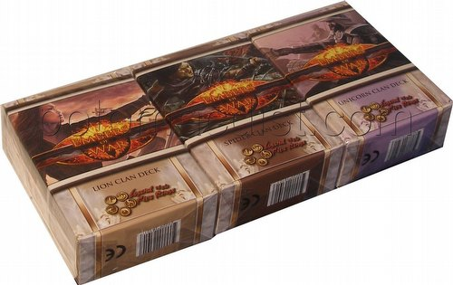Legend of the Five Rings [L5R] CCG: Embers of War Starter Deck Set [Lion, Spider, Unicorn]