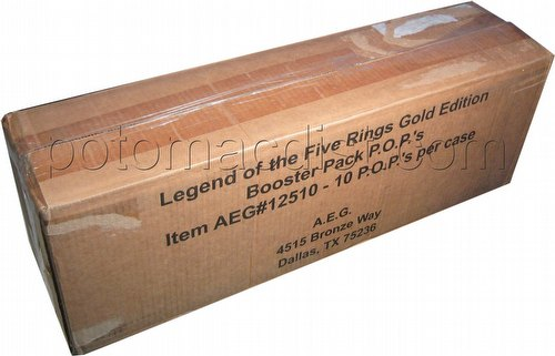 Legend of the Five Rings [L5R] CCG: Gold Booster Box Case [10 boxes]