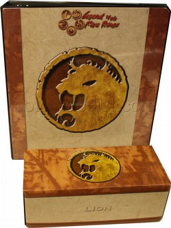 Legend of the Five Rings [L5R] CCG: Three-Ring Binder and Card Storage Box [Lion Clan]