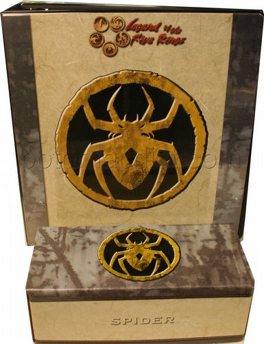 Legend of the Five Rings [L5R] CCG: Three-Ring Binder and Card Storage Box [Spider Clan]