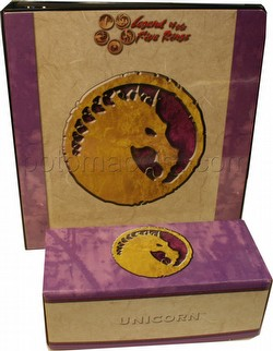 Legend of the Five Rings [L5R] CCG: Three-Ring Binder and Card Storage Box [Unicorn Clan]