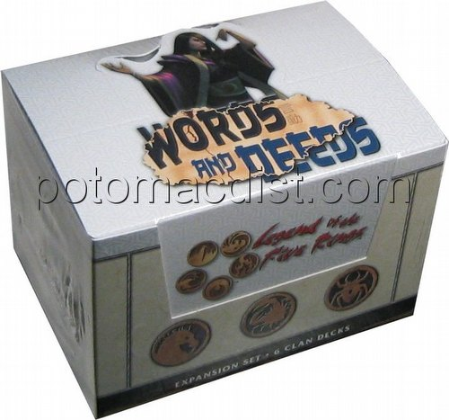 Legend of the Five Rings [L5R] CCG: Words and Deeds Starter Deck Box