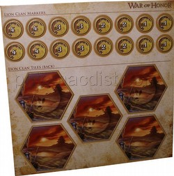 Legend of the Five Rings [L5R] CCG: War of Honor Lion Clan Tiles and Markers