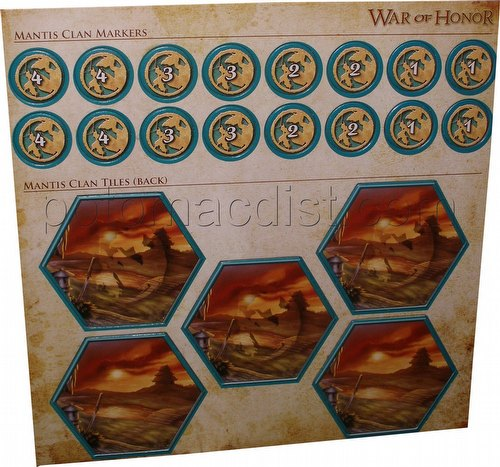 Legend of the Five Rings [L5R] CCG: War of Honor Mantis Clan Tiles and Markers