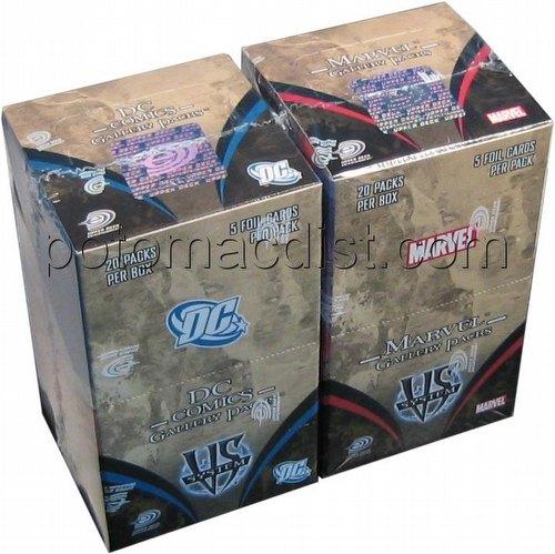 Marvel/DC VS TCG: Gallery Pack Box Combo [1 Marvel box/1 DC box]