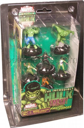 HeroClix: Marvel Incredible Hulk Fast Forces 6-Pack
