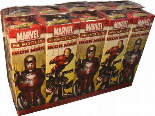 HeroClix: Marvel The Invincible Iron Man Booster Brick [10 boosters]